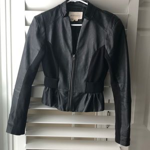 BCBGeneration Black Genuine leather jacket